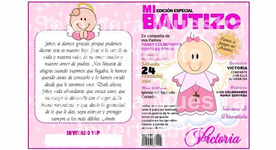 tarjeta invitacin infantil revista bautizo grande fotografi cargando zoom