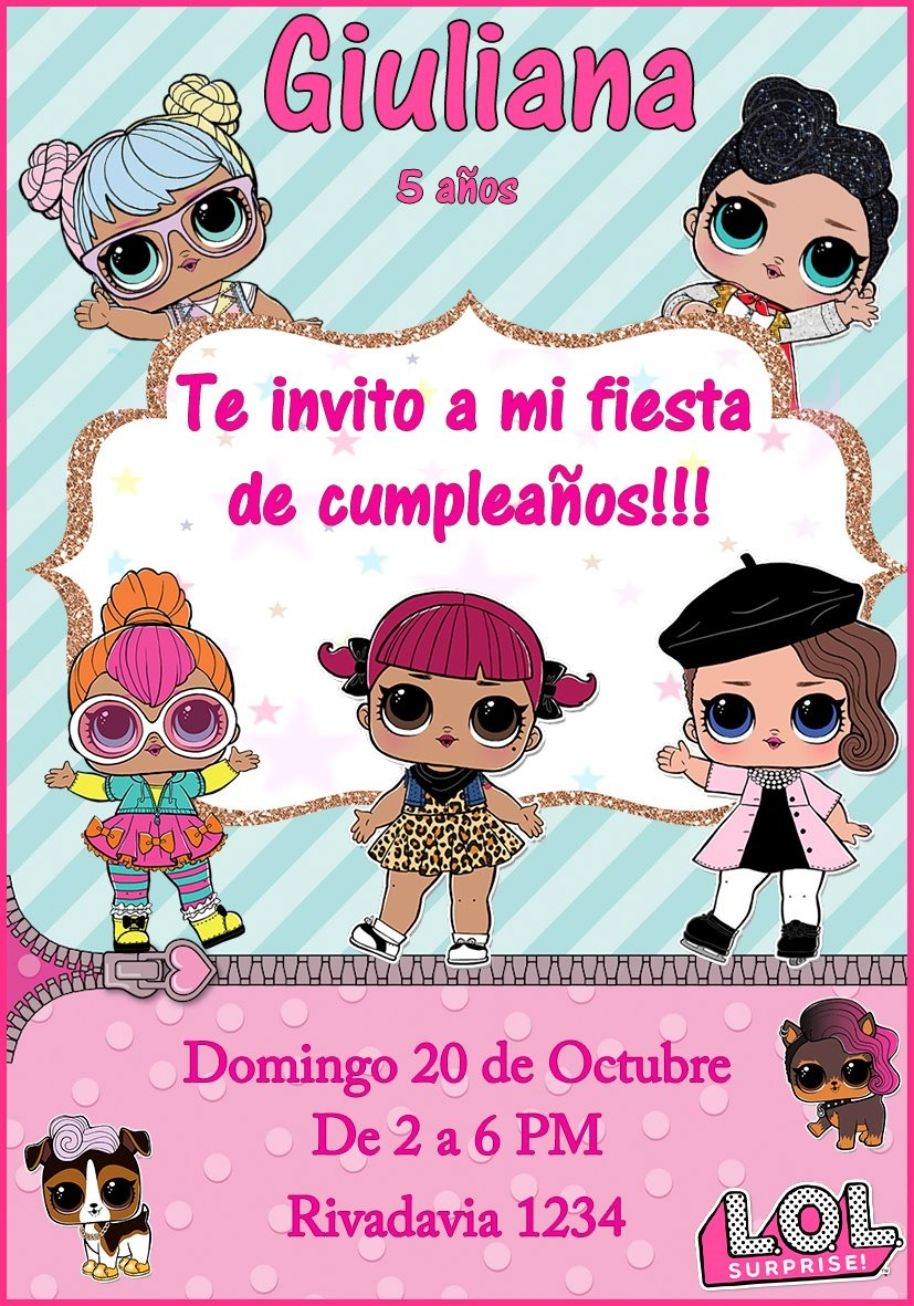 Tarjeta Invitacion Lol Personalizada Digital Cumpleaños