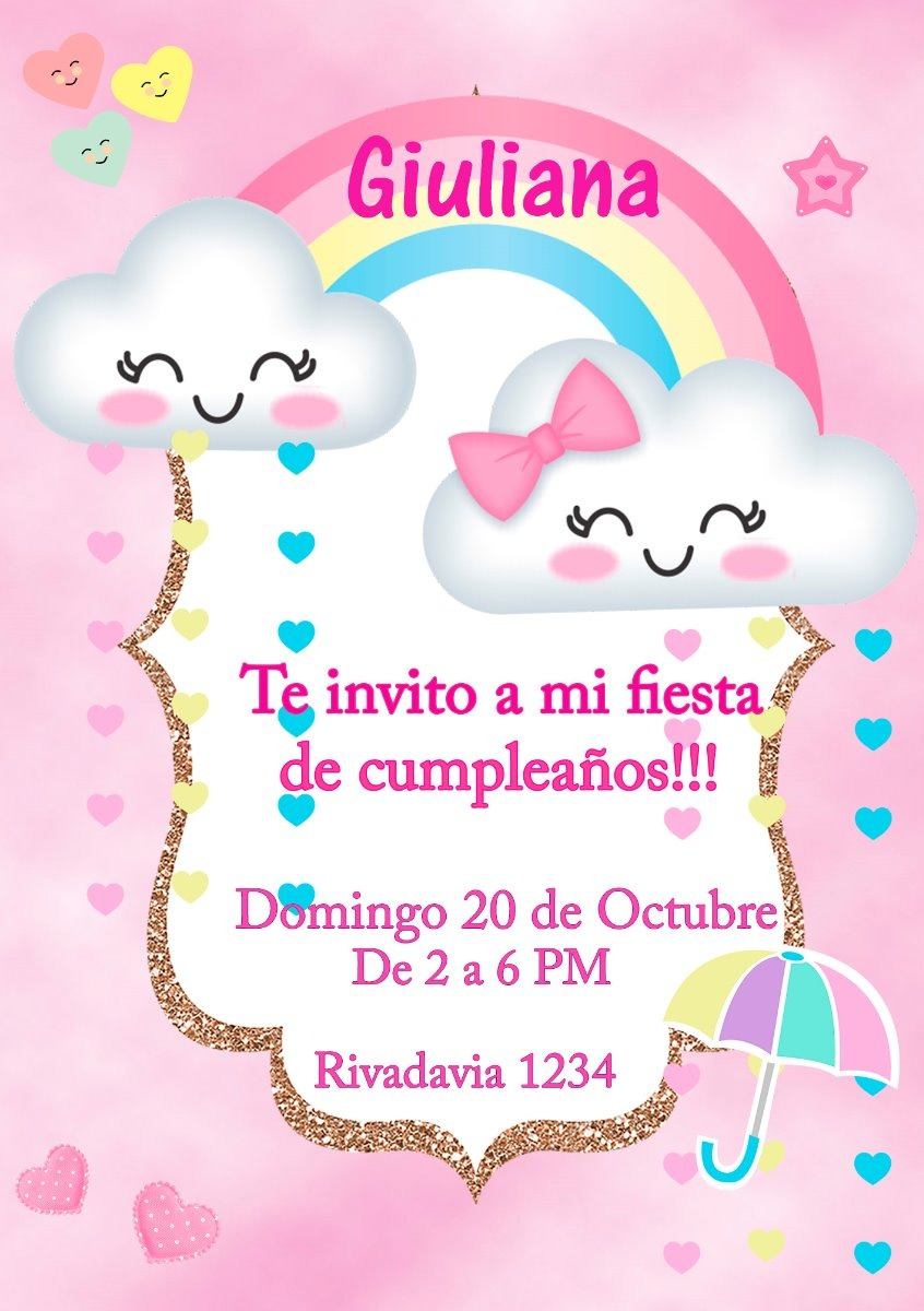 Tarjeta Invitacion Mickey Mouse Digital Cumpleaños