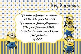 Tarjeta Invitacion Minions