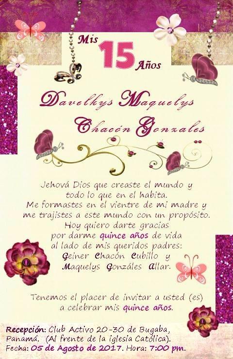 Tarjeta Invitación Para 15 Años Imprimíble Toda Papelería 460 00