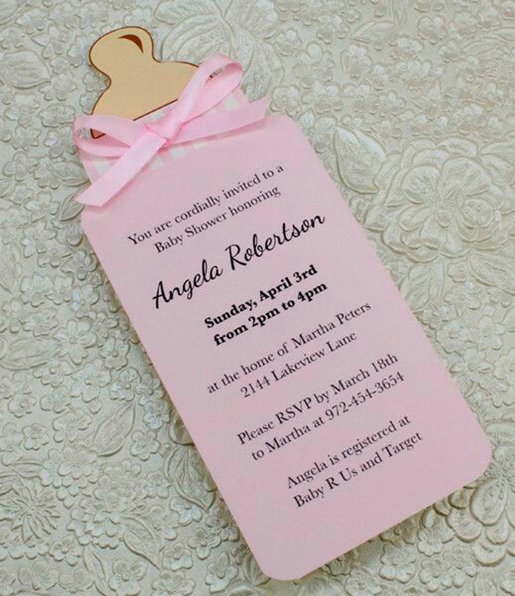 Tarjeta Invitación Para Baby Shower Tetero