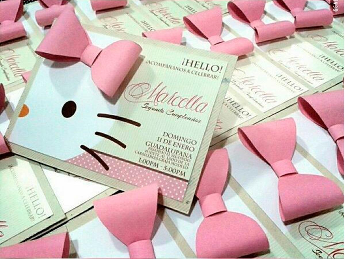Tarjeta Invitación Para Cumpleaños Hello Kitty