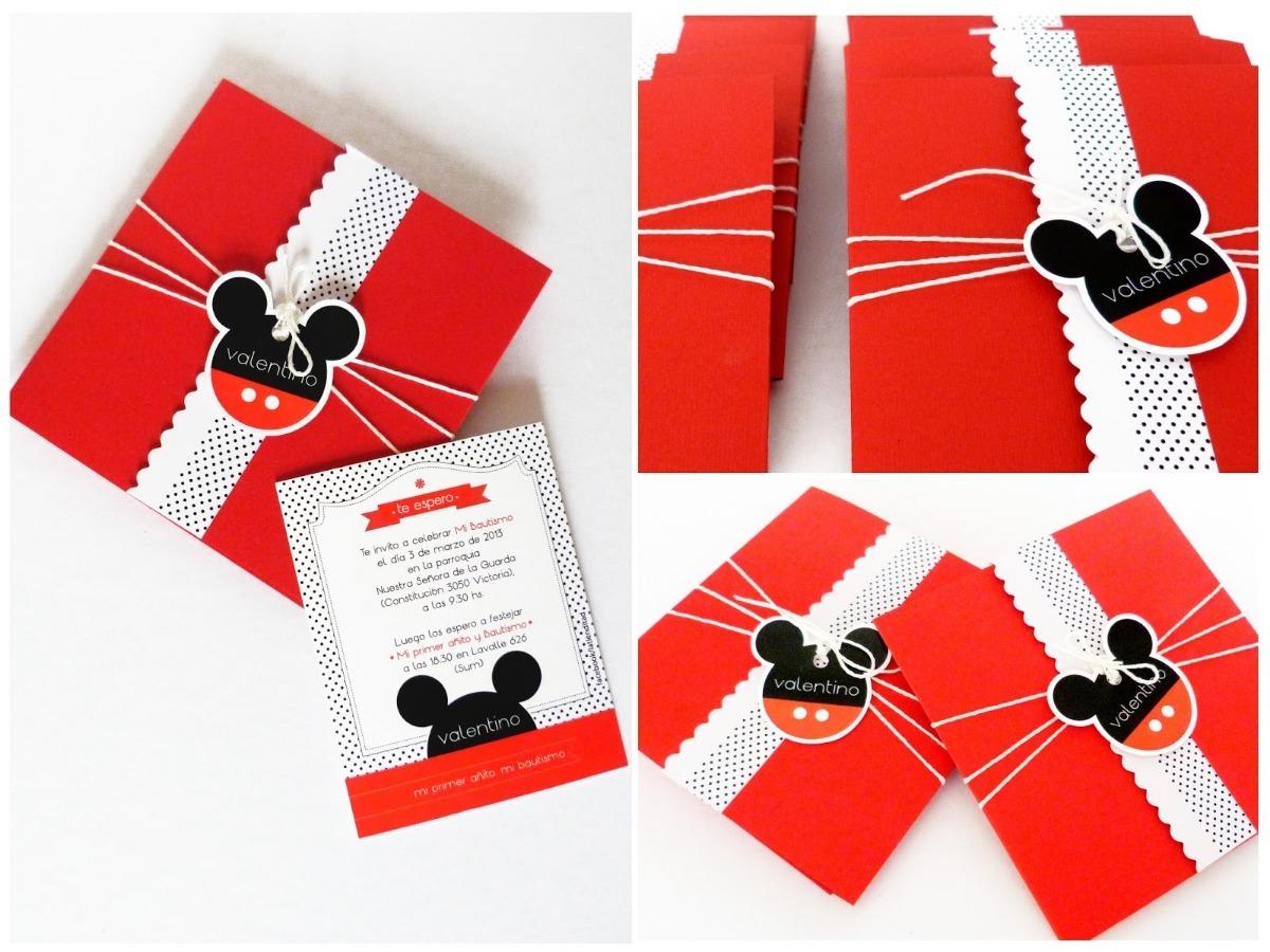 Tarjeta Invitación Para Cumpleaños Mickey Mouse