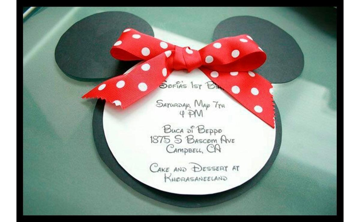 Tarjeta Invitación Para Cumpleaños Minnie Mouse