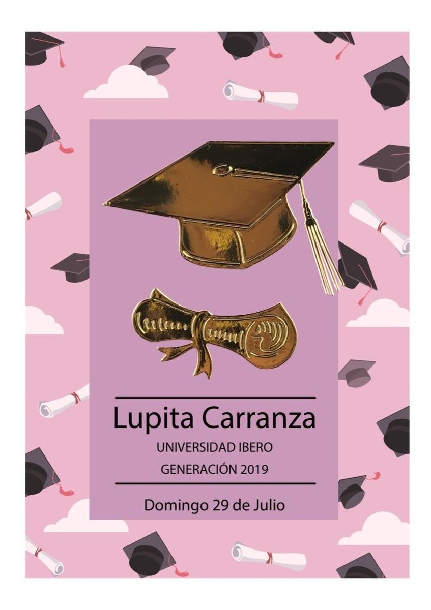 Tarjeta Invitación Para Graduación Escolar Personalizadas
