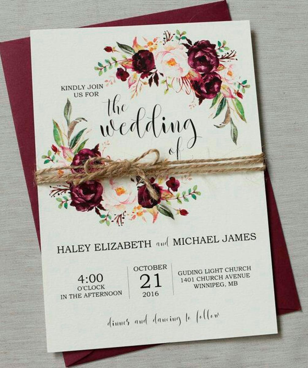 Tarjeta Invitación Para Matrimonio