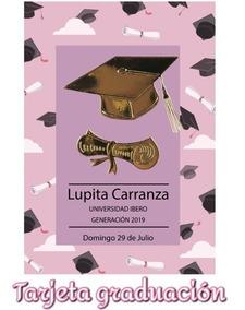 Tarjeta Invitación P Graduación Personalizadas Paq De 25
