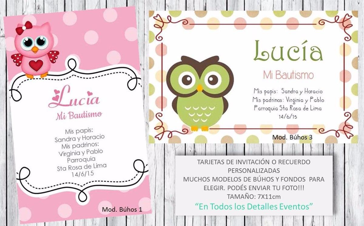 Tarjeta Invitación Recuerdo Búhos 1año Nacimiento Babyshower
