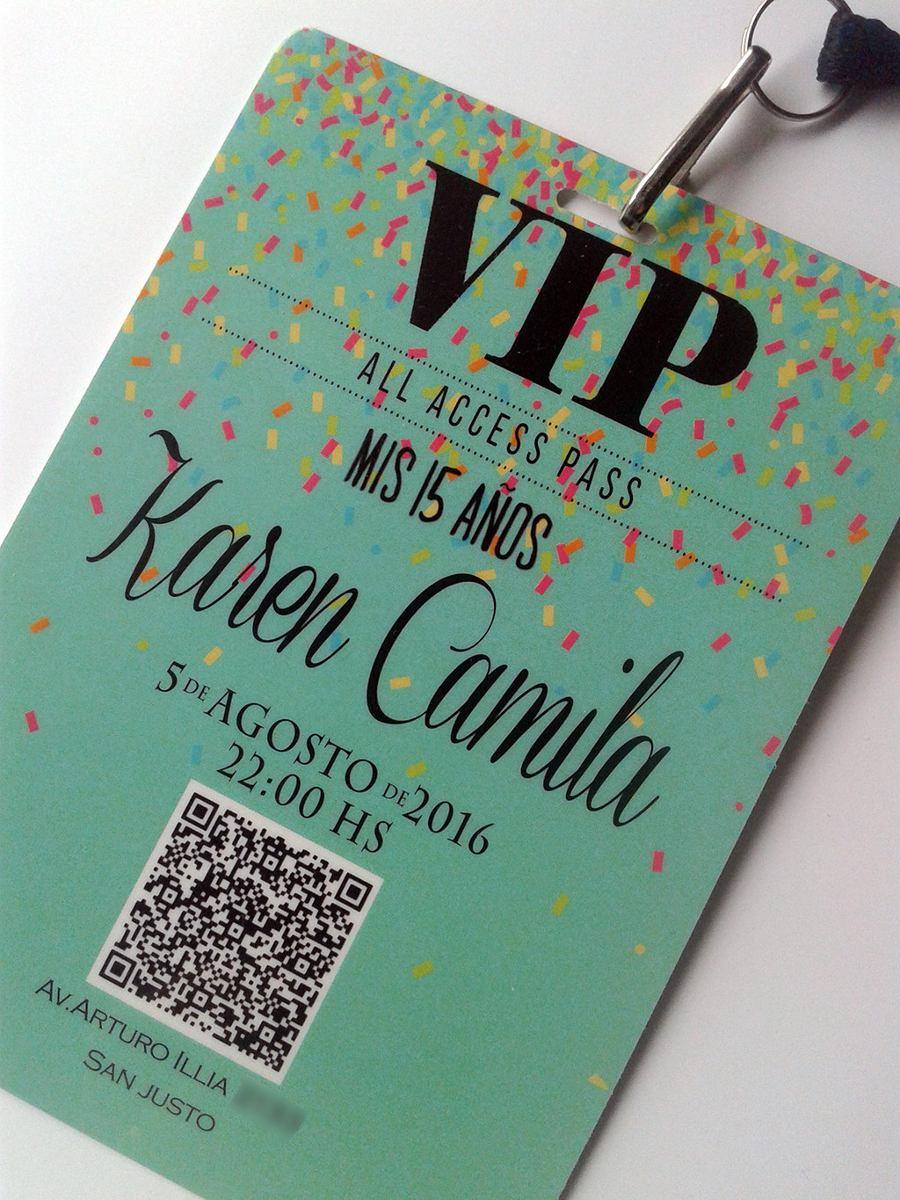 Tarjeta Invitacion Vip 15 Años Cordon C Herraje X10
