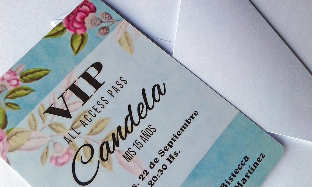 Tarjeta Invitacion Vip 15 Años X60