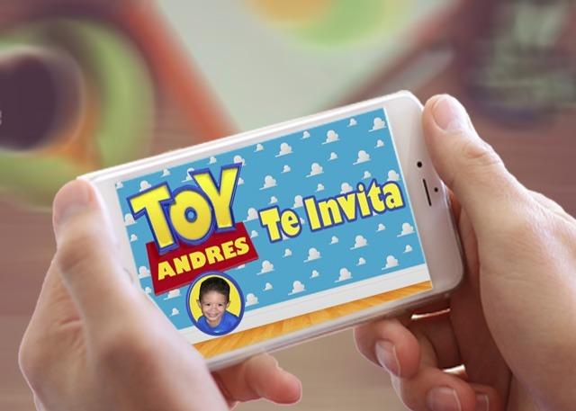 Tarjeta Invitacion Virtual Cumpleaño Toy Story Animada Video