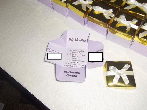 tarjeta invitaciones cajitas para 15 años, casamiento