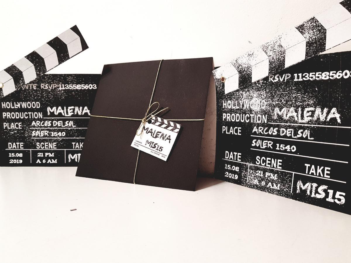 Tarjeta Invitaciones Fiesta 15 Años Originales Tematica Cine