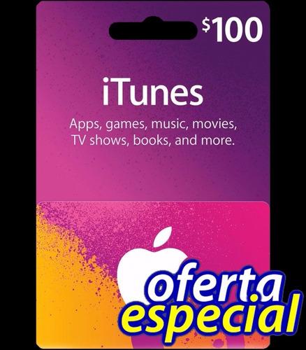tarjeta itunes $100 gift card app store