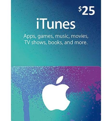 tarjeta itunes de 15 y 25 app store, musica, aplicacione..s