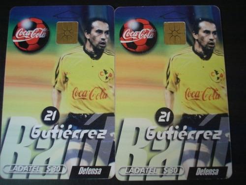 tarjeta  ladatel raul gutierrez usada america cocacola
