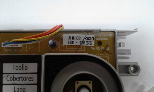 tarjeta lavadora samsung dc92-00101f wd6122/wd7122