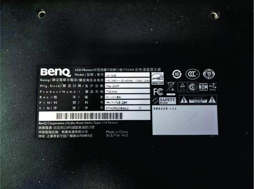 tarjeta logica placa main  monitor benq t52wa