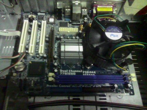 tarjeta madre asrock 775i65g+procesador