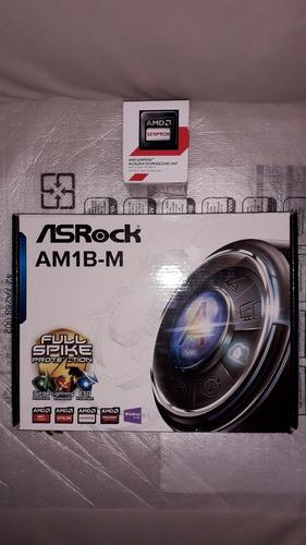 tarjeta madre asrock am1b-m + proc. amd sempron 2650 (80$)