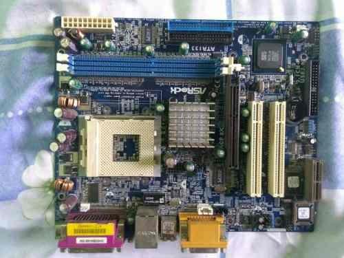 tarjeta madre asrock ata i33 con procesador
