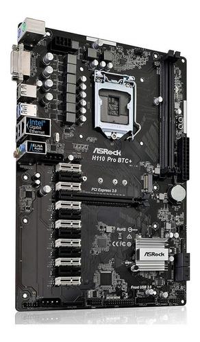 tarjeta madre asrock h110 pro btc+ ddr4 socket 1151 13 gpu