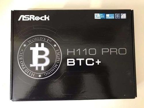 tarjeta madre asrock h110 pro btc mining 13 gpu somos tienda
