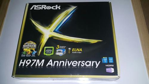 tarjeta madre asrock h97m anniversary en su caja sellada