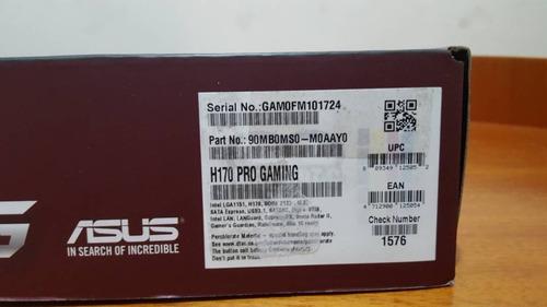 tarjeta madre asus h170 pro gaming