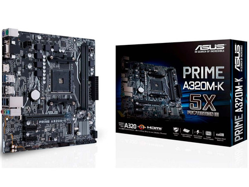 tarjeta madre asus prime a320m-k am4 ddr4 5x protection 3