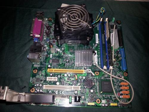 tarjeta madre con procesador 775 y 2gb de memoria ddr2
