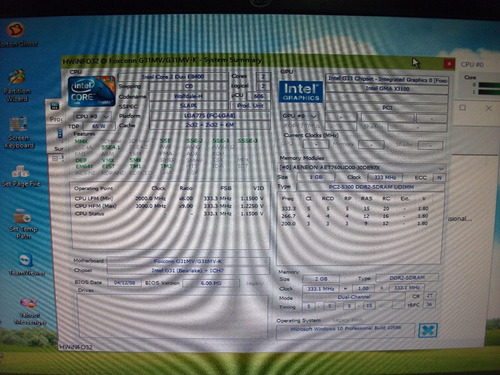 tarjeta madre ddr2 socket 775 + procesador + cooler + ram