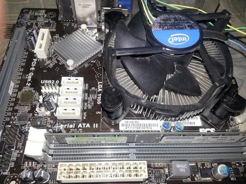 tarjeta madre ecs h61h2-mv+procesador g2010+4gb ddr3