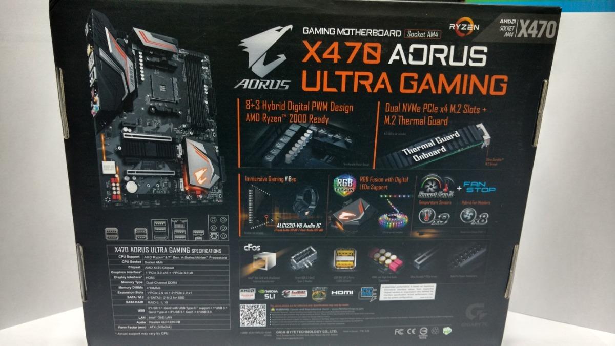 Tarjeta Madre Gigabyte Aorus X470 Ultra Gaming Am4 Ryzen 2