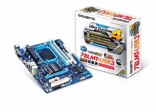 tarjeta madre gigabyte ga-78lmt-usb3 am3+ ticotek