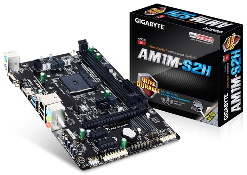 tarjeta madre gigabyte ga-am1m-s2h am1 ddr3 vga/hdmi /m