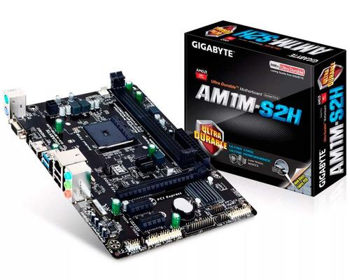 tarjeta madre gigabyte ga-am1m-s2h amd socket am1 ddr3