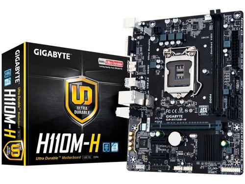 tarjeta madre gigabyte ga-h110m-h 1151 ddr4 hdmi nueva