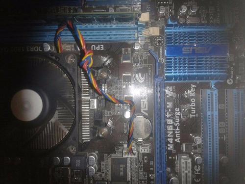 tarjeta madre m4n68t-n-v2 con memoria ram 4 gb y procesador