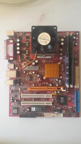 tarjeta madre m863g v5.1 socket 462 + prcesador amd + ram