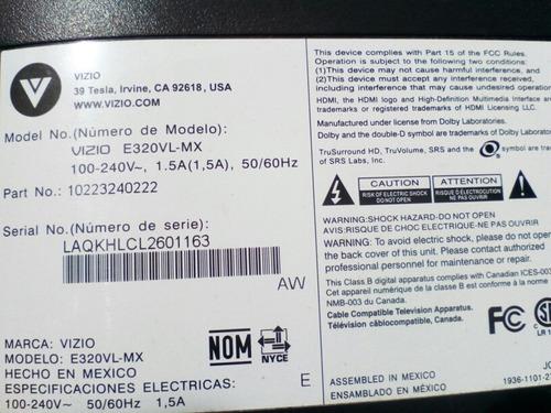 tarjeta main y fuente tv vizio lcd