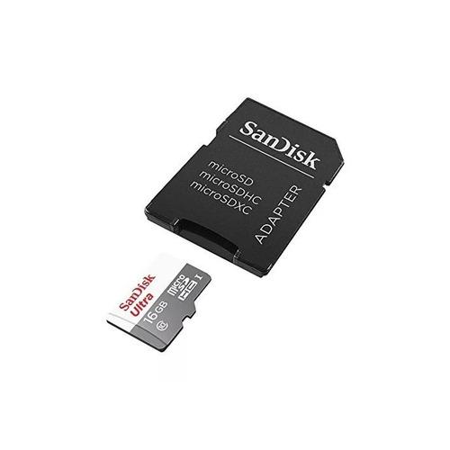 tarjeta memoria 16gb 80mb/s sandisk micro sd clase10- oferta
