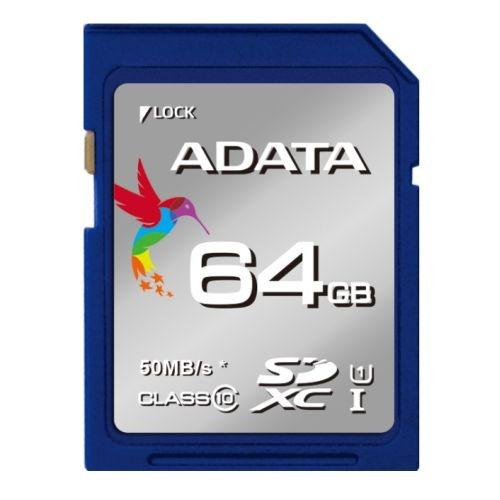 tarjeta memoria adata premier sdxc/sdhc uhs-i 64gb c10 azul