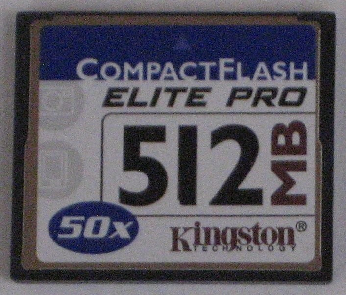 Kingston 512 Mb Tarjeta Flash Compacta.
