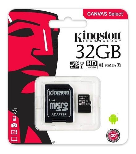 tarjeta memoria kingston micro sd 32gb clase10 por scubafoto