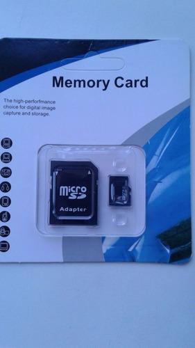 tarjeta memoria micro sd 8gb clase6 + adaptador sd