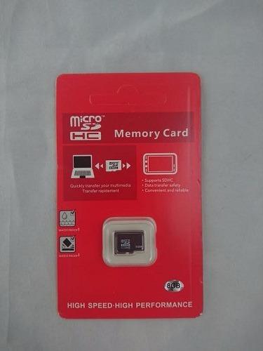 tarjeta memoria micro sd clase 10 8 gb fotos vídeos calidad