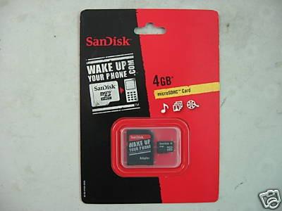 tarjeta memoria micro sdhc sandisk 4 gbs celular como nueva
