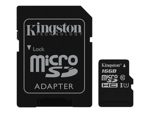 tarjeta micro sd 16gb kingston hc canvas select mg